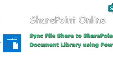 sync file share to sharepoint online using powershell 390x205