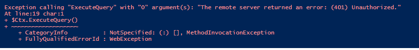 The remote server returned an error: (401) Unauthorized.