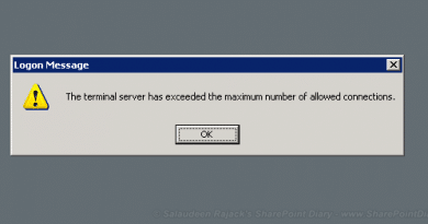 the terminal server has exceeded the maximum number of allowed connections 390x205