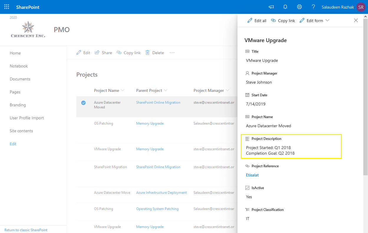 Update Multiple Lines Of Text Field Value in SharePoint Online using PowerShell