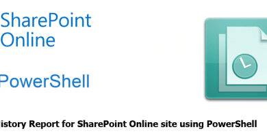 version history report for sharepoint online using powershell 390x205