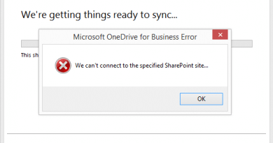 we cant connect to the specified sharepoint site 390x205