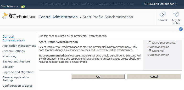 sharepoint 2010 import photo from active directory perform full sync
