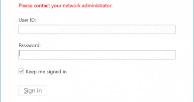 We can't sign you into your company portal because something on the server isn't configured correctly