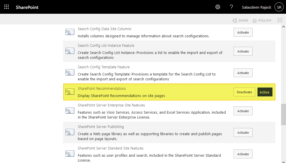 disable you may also be interested in feature in sharepoint online