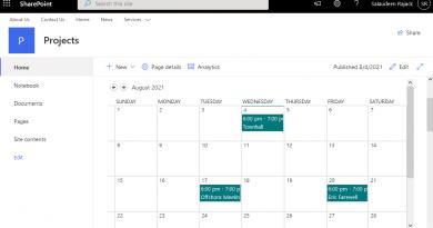 add calendar to sharepoint online modern page