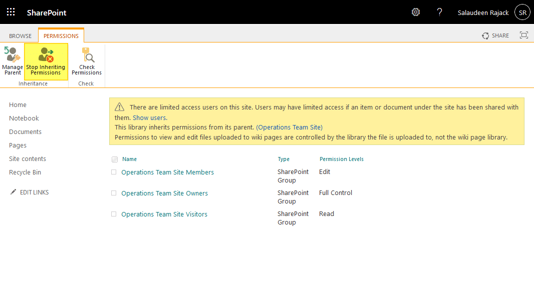 prevent users from editing site pages in sharepoint online