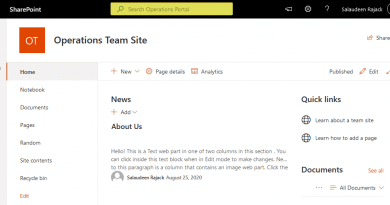 change search this site placeholder text in sharepoint online