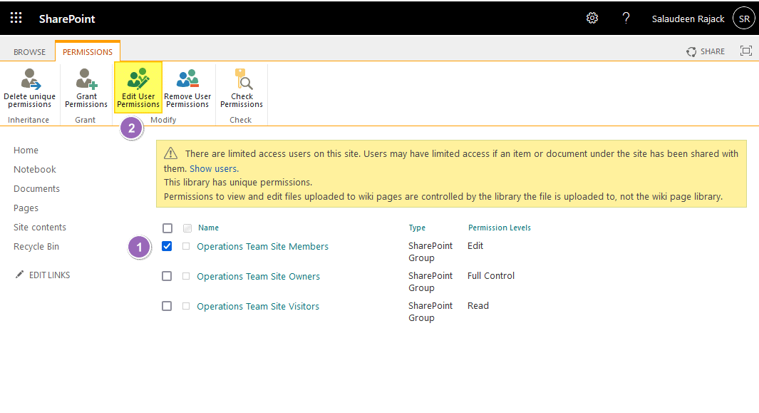 sharepoint online disable edit page