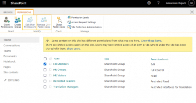 edit user permissions greyed out in sharepoint online