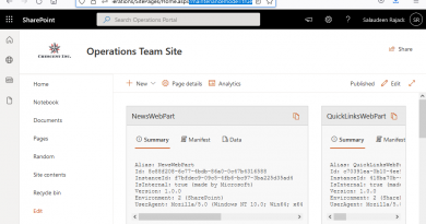 sharepoint online web part maintenance page