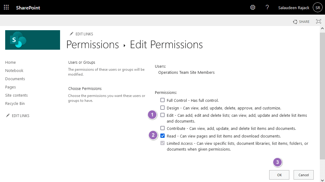 sharepoint online prevent users from editing pages