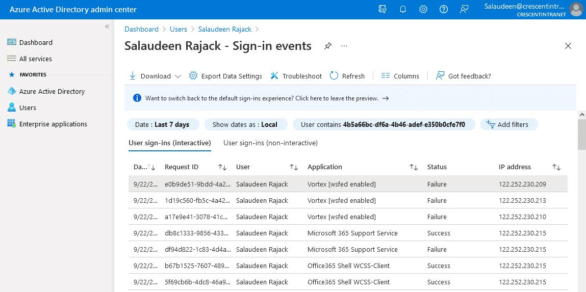 sharepoint online user login tracking